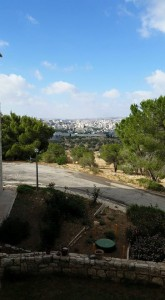 A view of Bethlehem and the West Bank from Tantur Ecumenical Institute.